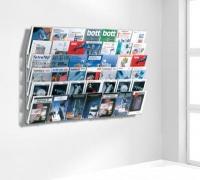 zeitschriften wandhalter 6 fach zeitungsst nder. Black Bedroom Furniture Sets. Home Design Ideas