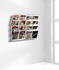 zeitschriften wandhalter 8 fach zeitungsst nder. Black Bedroom Furniture Sets. Home Design Ideas