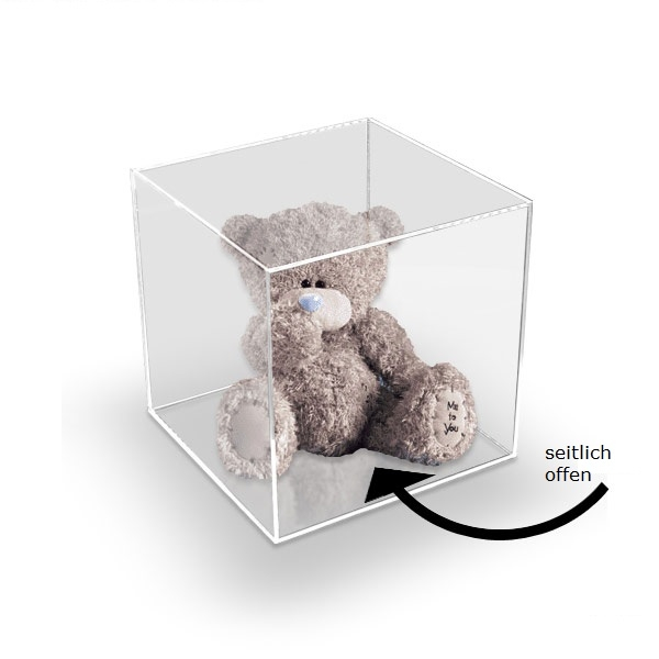 acrylbox 200x200x200 mm ohne deckel warentr ger acrylboxen mit und ohne deckel cardstore d. Black Bedroom Furniture Sets. Home Design Ideas