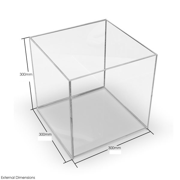 acrylbox 300x300x300 mm ohne deckel. Black Bedroom Furniture Sets. Home Design Ideas