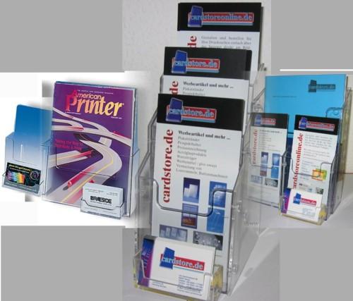 Prospekthalter Und Prospektständer Mit Visitenkartenbox